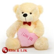 OEM soft good quality teddy bear with heart