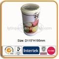 lata hermética da vasilha café