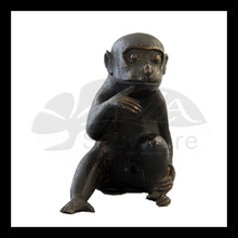 High quality bronze monkey cover mouth statue