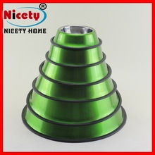 round stainless steel colorful pet dog bowls