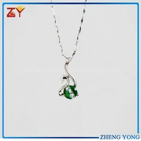 Swan Gemstone Pendant 925 Sterling Silver Fashion Jewelry Wholesale