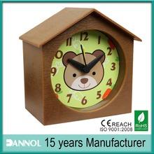 Guangzhou Alarm House Shape Promotion Gift Kids desk/table Clock Hot Sale New Style