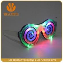Di plastica led lampeggiante partito degli occhiali, multi colore occhiali partito