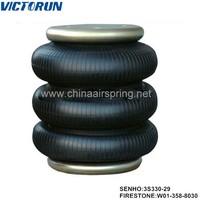 firestone w013588030 contitech ft33029498 goodyear 3b12301 triple convoluted adjustable car air shock absorbers