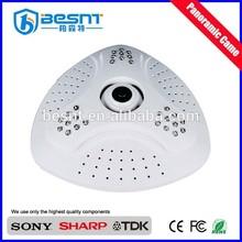 high quality night vision p2p web camera 360 degree network camera Shopping mall ip panoramic camera (BS-IP360C)