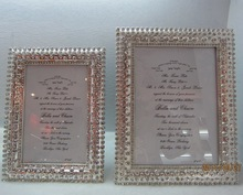 fancy crystals wedding picture photo frame