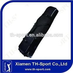 Black Polyester Hard Travel Golf Bag
