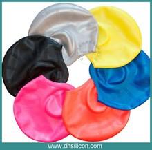 High quality Soft swim caps silicon ear swim cap