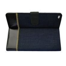 China market shockproof leather case for ipad mini 2 3 4, handmade folio stand PU case