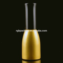 15ml UV soak off gold coloed gel nail polish black bottle with black cap