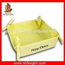 Popular solid color 100%cotton bread basket