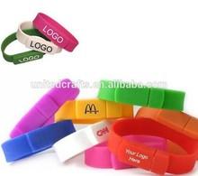 Bulk Cheap Silicon 8GB USB Flash Drives 4GB Silicon USB Bracelet/Wristband USB