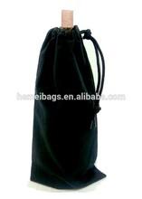 Single Bottle Wine Drawstring Cotton Bag