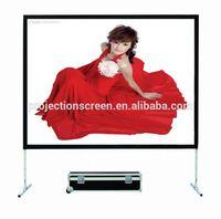 easy fold 3D silver fast fold projection screen,projection screen, easy move and portable, front and rear projection screen