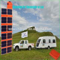 180W DC&USB sunpower folding solar panel for boat, e-bike, ,golf cart 12V battery