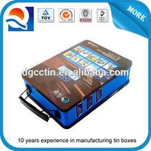 Car navigation tin box handled tin container wholesale