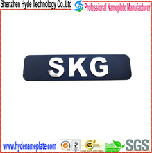 metal cheap name plates stainless brush steel sticker