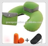 Neck pillow with eyemask, earplugs , airplane travel sleeping kits