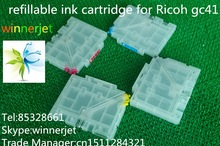 4 colors refillable GC41 ink cartridge for ricoh sg3100dn