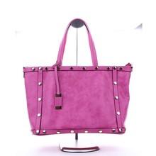 2015 ladies fashion pu handbag with studs