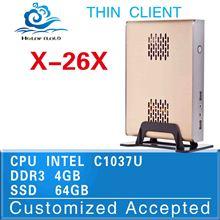 Low power low heat Intel C1037U 4gb ram cheap mini pc station thin client notebook computer Mini itx pc cases
