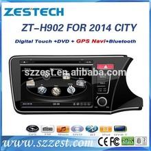 car dvd gps navigation for Honda City 2014 car dvd gps navigation system with radio player A8 ZT-H902