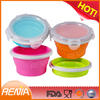 RENJIA eco-friendly silicone folding lunch box,eco-friendly collapsible bowl,eco collapsible bowls