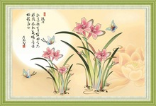 """Fragrant orchids "" New 5D round crystal diy diamond painting"