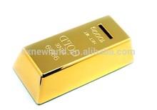 2014 New design Gold Bullion replica money saving cheap piggy bank