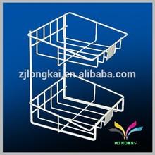 China supplier wholesale high quality unique attractive metal wire decorative design shop shelf equipement