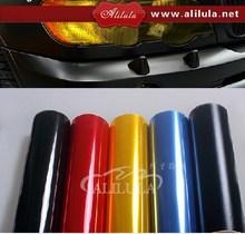 Low price 0.3*10m glossy car light wrap/car headlight vinyl film