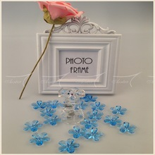 Wholesale Blue Acrylic Flower Confetti For Wedding Red Carpet Decoration