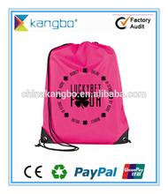 Custom promotional nonwoven drawstring bag drawstring shopping bag drawstring packing bag