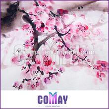Wholesale Lady High Quality Digital Printing 90cm modern scarf shawl