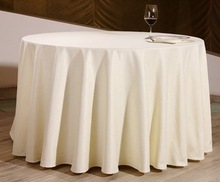 With OEM Custom Design High Quality Solid Colored Polyester Round Tablecloth