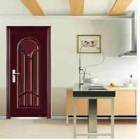 new model baby safety door gate/flat exterior door/plain steel door