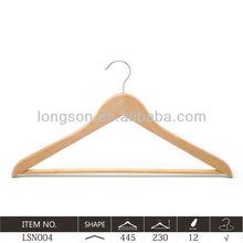 Wholesale wooden clothes suit hanger, wooden suit hanger,wooden hanger for coat
