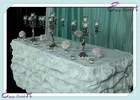 YHK#86 fancy table skirt - polyester banquet wedding wholesale chair cover sash table cloth skirt linen