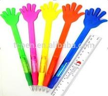 funny plastic finger shape ball pen for promotion