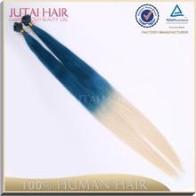 Fashion new products nail tip hair extension two tone human hair braiding hair