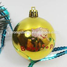 golden bauble decoration christmas ball