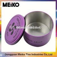 round sock tin box