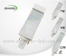 Superior de la venta 5 W 7 W 9 W 12 W SMD2835 G24 llevó la luz de hay muchos de las clases de luz
