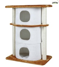 Anji Kaifeng popular small Luxury wood and sisal Cat Tree ,cat Scratcher Post ,cat house KF8020 three Drawers