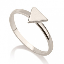 Fashion Jewelry 925 Sterling Silver Triangle Ring Unique Silver Triangle Ring Jewelry