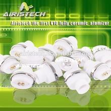 high quality V10 full ceramic atomizer e cigarette titan V10 full ceramic atomizer vaporizer wax vaporizer tank
