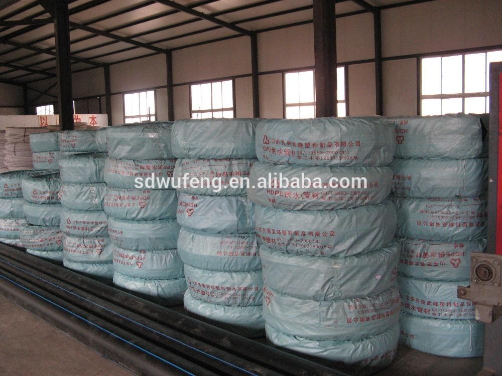 High Density Polyethylene 20-40mm diameter Black HDPE100 coiled ...