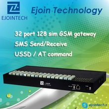 Hot Sale GoIP gateway!! Ejointech anti sim blocking GSM sip gateway with 32 port 128 sim wireless networking equipment