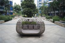 PE rattan sofa wicker furniture/ popular bali daybed/ Garden wicker chaise lounge furniture