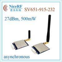 915MHz low cost asynchronous Uart 27dBm 500mW RS232 SV651 2km wireless